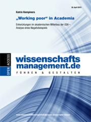 "Katrin Kempiners: ""Working poor"" in Academia"